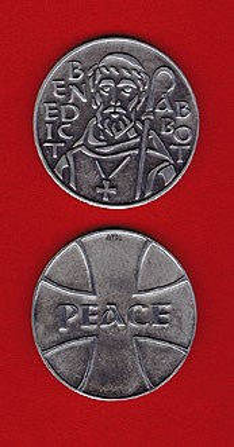 St. Benedict Pewter Medallion