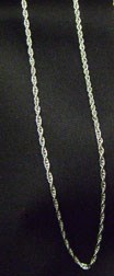 Rhodium Pewter-Plated Rope Chain