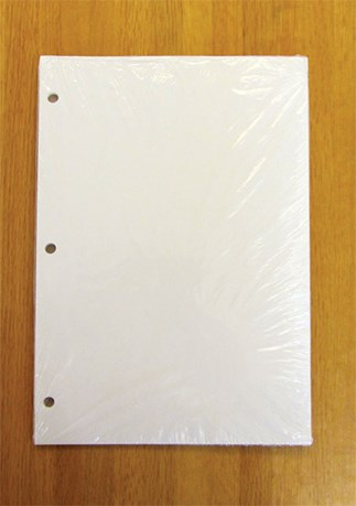 Punched Blank Sheets for Large Print Edition of Loose-leaf Lectionary