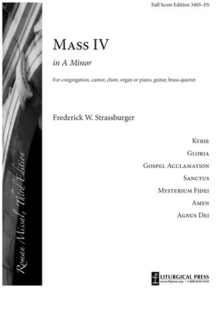 Mass In A Minor, Full Score Edition