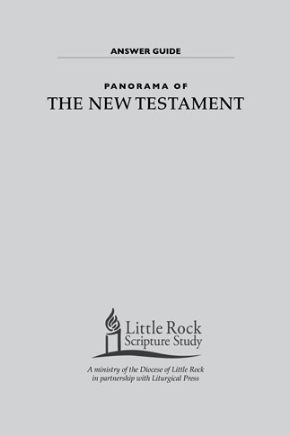 Panorama of the New Testament—Answer Guide