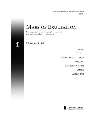 Mass of Exultation, Accompaniment/Vocal Score Print Edition