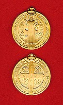 St. Benedict Gold-Plated Jubilee Medal