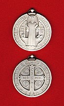 St. Benedict Silvered Bronze Jubilee Medal