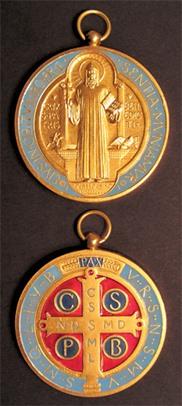 St. Benedict Gold-Plated Enameled Jubilee Medal