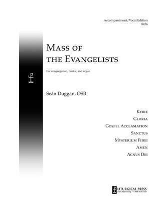 Mass of the Evangelists, Accompaniment/Vocal Score Print Edition